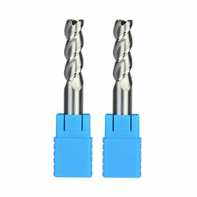 HRC45 End Mill Home 2Pcs Replacement 3 Flute Set Solid Tungsten Carbide