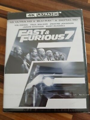 Fast And Furious 7 Blu Ray 4K + Blu Ray Neuf Sous Blister