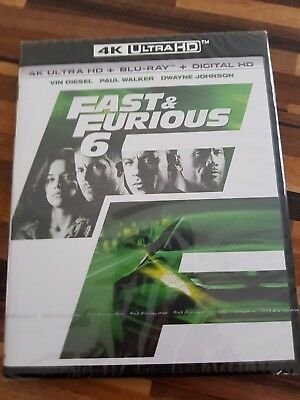 FAST AND FURIOUS 6 Blu Ray 4K + BLU RAY NEUF SOUS BLISTER