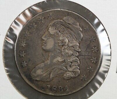 1834 Capped Bust Half Dollar Engraved Obverse Field