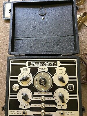 Medcolator Vintage 1950's Model 50B 4 Pads & Connecting Wires Muscle Stimulator