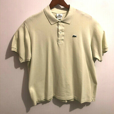 Lacoste Mens Crocodile Short Sleeve Lime Green Polo Shirt Sz 7 Tennis