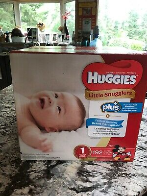 Huggies Diapers 192 count: Little Snugglers Movers Plus, Size 1