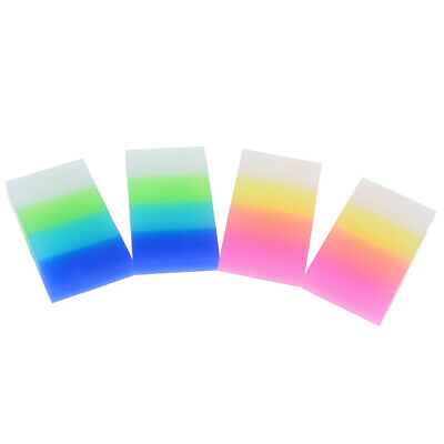 1Pc Creative rainbow candy colored eraser stationery schoo gift learning supp TS