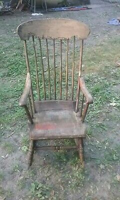 Antique adult wooden rocking chair