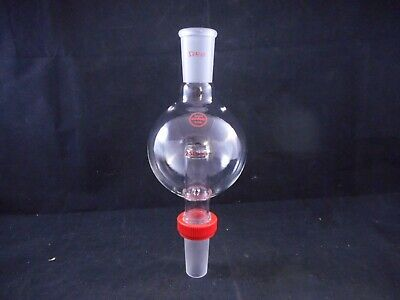 SAFE-LAB Glass 250mL Rotary Evaporator Bump Trap 24/40 with Extraction Nut