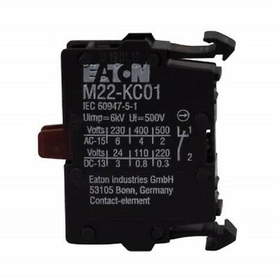 H● Eaton,Moeller M22-KC01 Contact Block Switch.