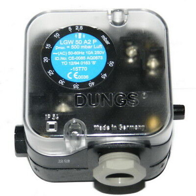 H● Arrival LGW50A2P Dungs Air Pressure Switch with test button For Burner.