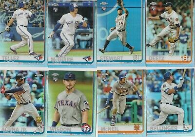 2019 Topps Chrome Baseball Refractor  Parallel U-Pick Complete Your Set