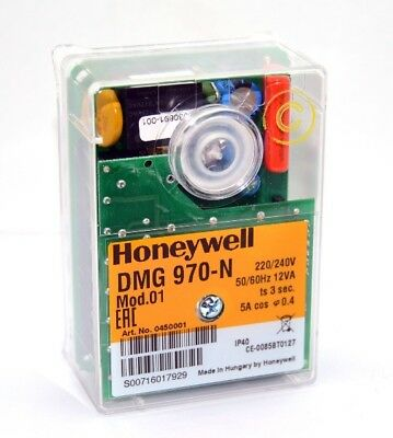 H● Honeywell DMG970 Control Box for Gas Burner Safety Controller.