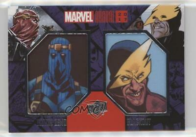 2017 Upper Deck Marvel Annual Comic SP Blackout Baron Zemo Dual Patch 5x5