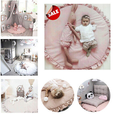 Soft Cotton Rug Baby Mat Kids Play Mat Crawling Game Gym Winter Blanket Protect