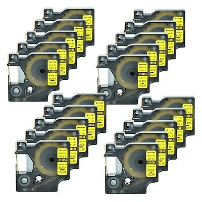 20x Heat Shrink Tube Label IND Tape 18054 For Dymo Rhino 3000 4200 5000 5200 9mm