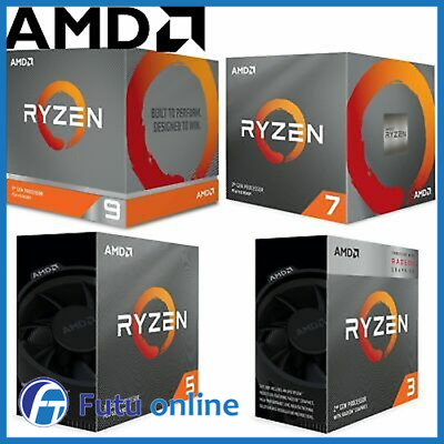 AMD Ryzen CPU 3 5 7 9 Series 3200G 2600 3600 3700X AM4 Processors Desktop PC