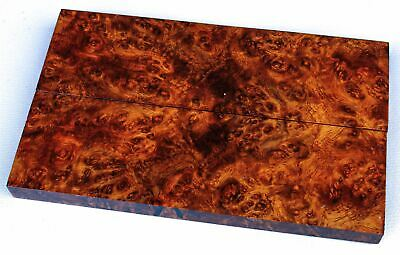Stabilized Amboyna Burl Exotic Wood Knife Scales, Gun Grips   SCL8327