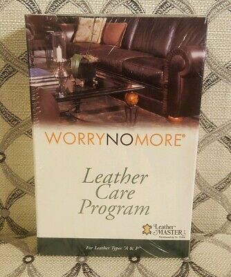 "Worry No More Leather Care Program for Leather Types ""A & P"" Leather Master NEW"
