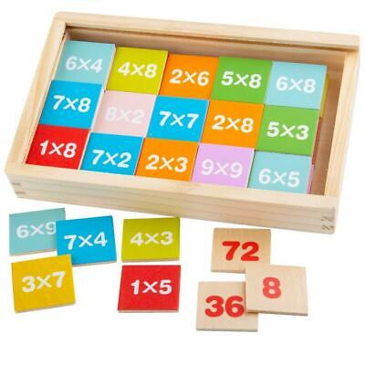 NEW Bigjigs Times Tables Tiles in Box - Learn Multiplication Math