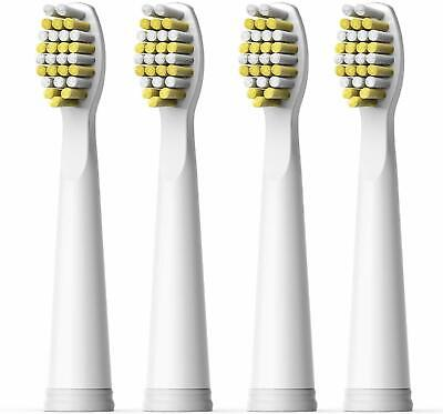 4x Fairywill Replacement Brush Heads for FW-508/ 507/ 959/ 917 White Firm