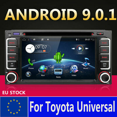 Android 9.0 Car GPS Navigation DVD Player for Toyota Collora Vios Echo Stereo BT