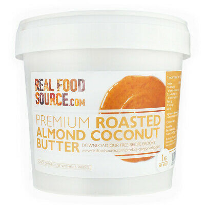 RealFoodSource - Premium Roasted Almond Coconut Butter 1kg