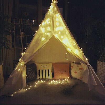 20Stars +Kids Tent Indoor Cubby House Play tent Teepee Cotton Canvas Wigwam Gift
