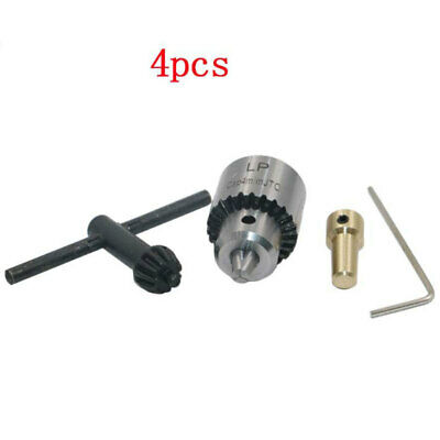 4PCS 0.3-4mm Micro Motor Drill Chuck Clamp with Key and Shaft Connecting tyu