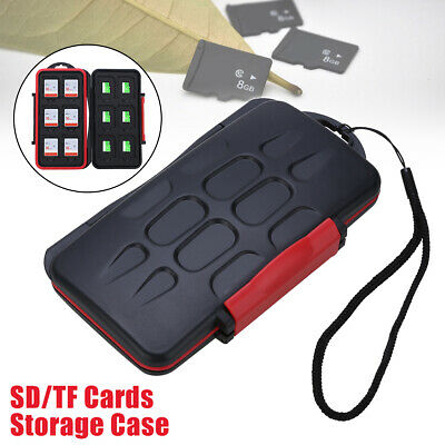 12 Slots SD/TF Cards Case Storage Box Anti-shock Waterproof ABS Hard Shell New