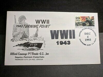 PT-109 Naval Cover 1993 Harris WWII Cachet PATROL TORPEDO BOAT