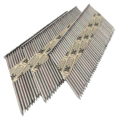Tacwise 34° Paper Collated D Head Strip Nails 50-90mm Extra Galvanised