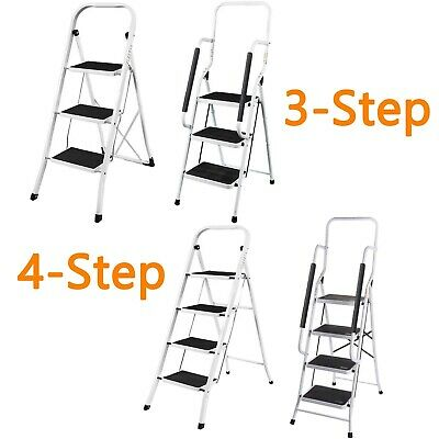 2 3 4 Step Heavy Duty Step Ladder Portable Folding Anti-Slip Mat Frame DIY