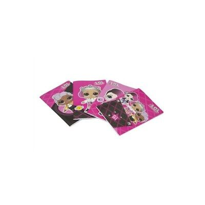 LOL SURPRISE Exercise Book for fourth grade in lines 10m 12 pieces various types