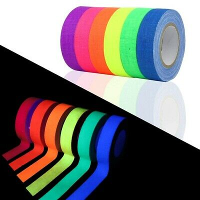 UV Blacklight Reactive Tape Neon Tape Fluorescent Glow In The Dark Gaffer