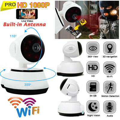 HD Night Vision Wireless WiFi Camera Smart Home Security Video Baby Dog Monitor