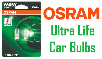 Vehicle Parts & Accessories 10 x OSRAM 501 CAPLESS SIDE LIGHT INTERIOR CAR BULBS 12V 5W ORIGINAL EQUIPMENT