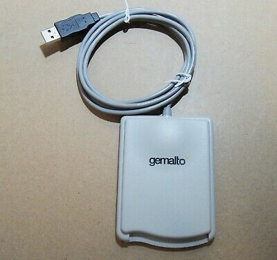 Gemalto (HWP108841C) IDBridge CT40 USB2 SL smart card reader. Grey