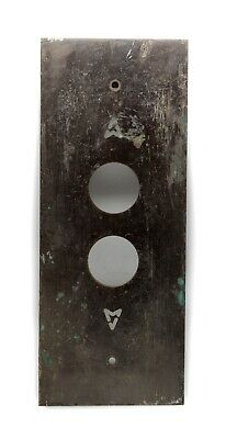 Classic Bronze Two Button Elevator Plate