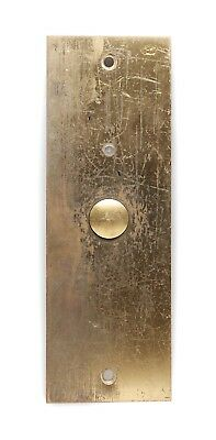 Vintage Classic Brass Elevator Push Plate
