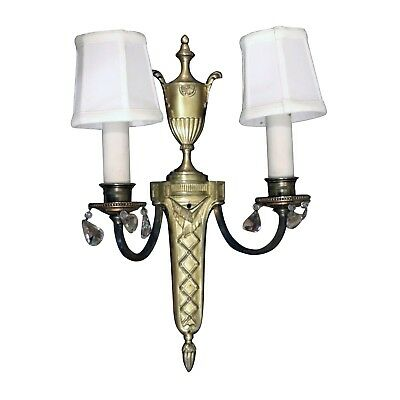 Salvaged Waldorf Classical French Sconces with Urn Motif