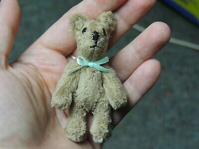 Mini-Mini Brown Minky Fur Artist Teddy Bear