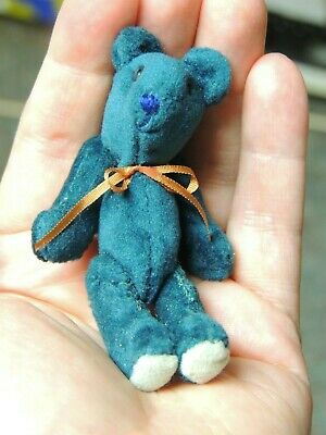 Mini-Mini Teal Velvet Artist Teddy Bear