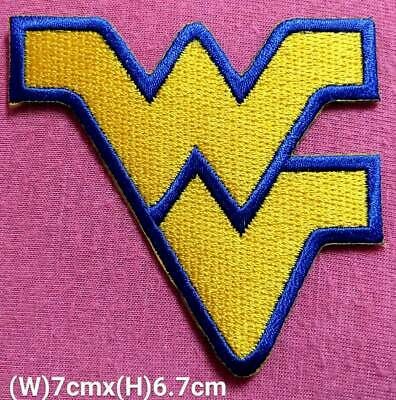 WV West Virginia COLLEG NCAA Logo Patch sport Embroidery iron, sewing on clothes