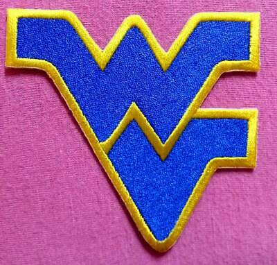 WV West Virginia Blue NCAA Logo Patch sport Embroidery iron, sewing on clothes