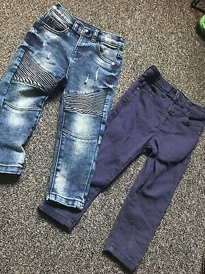 2 x Boys George Jeans 1.5-2 Years