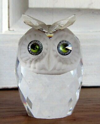 AUTHENTIQUE hibou chouette EN VERITABLE CRISTAL DE SWAROVSKI CRYSTAL owl