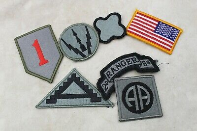 Lot Genuine Us Army Acu Military Patches - Hook & Loop Back