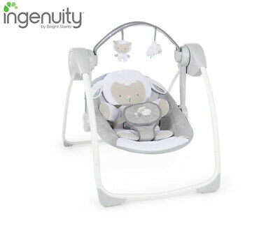 Ingenuity Comfort 2 Go Portable Baby Rocking Swing - Cuddle Lamb