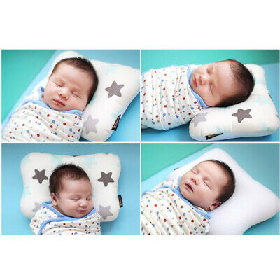 Baby Infant Newborn Prevent Flat Head Neck Syndrome Support Square Pillow