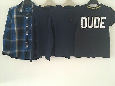 Boys Age 7-8 Years Checked Shirt & T-Shirts Bundle Debenhams Next George