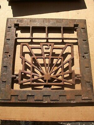 "Heat Air Grate Wall Decoration 12"" x 12 "" Wall Opening - VINTAGE ART DECO"