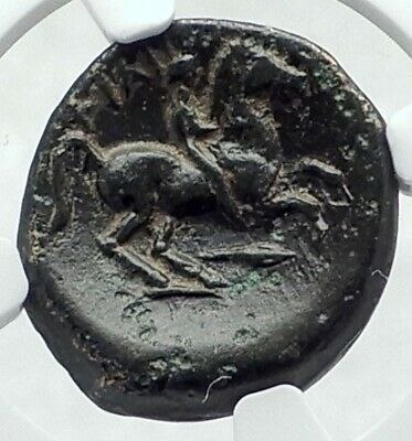 PHILIP II Alexander the Great Dad OLYMPIC GAMES Greek Coin Horse RACE NGC i78717